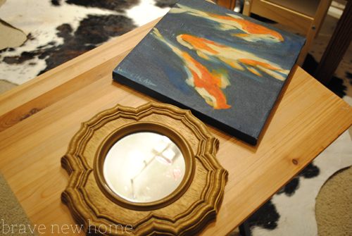koi painting and mirror