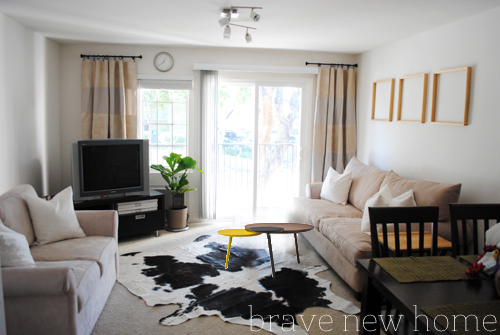 living_room_makeover_round_multi_colored_table