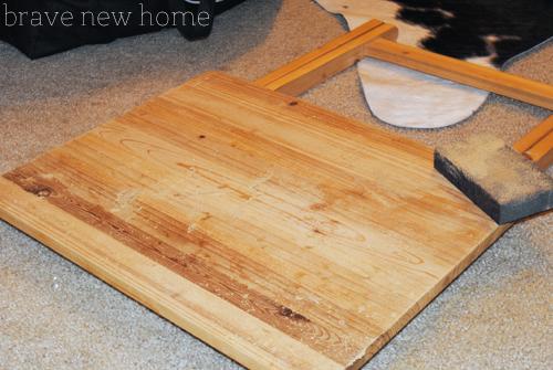tv tray sanding