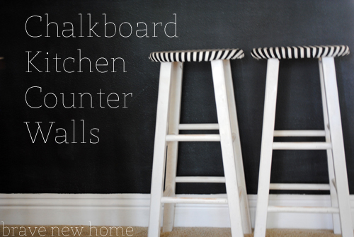 chalkboard kitchen counter wall