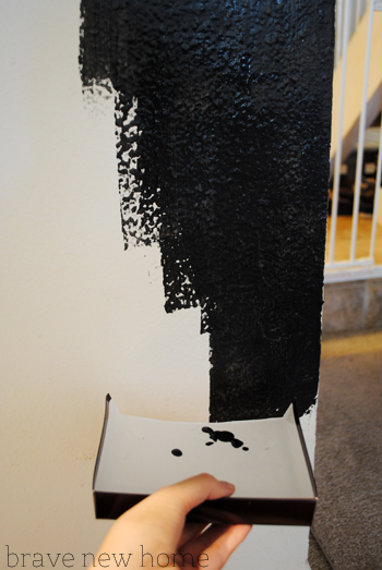 chalkboard paint dripping