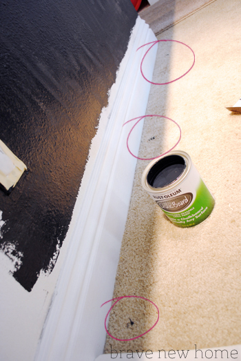 chalkboard painting mess
