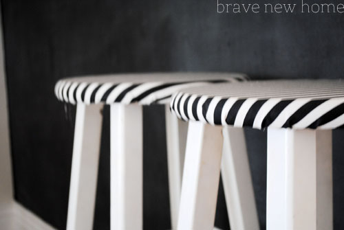 chalkboard stool closeup