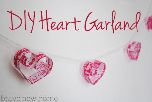 DIY heart garland tutorial