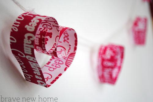heart garland closeup