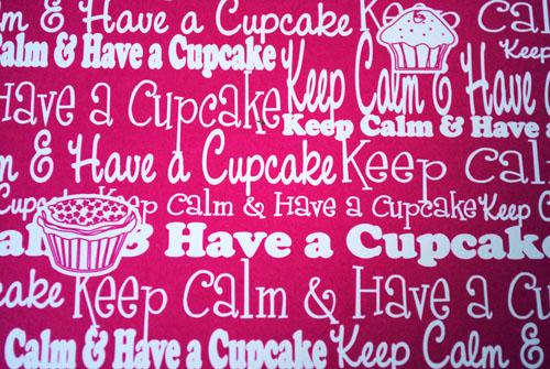 heart garland keep calm and eat a cupcake