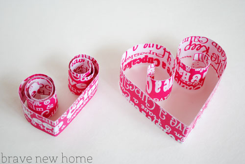 heart garland making rolls