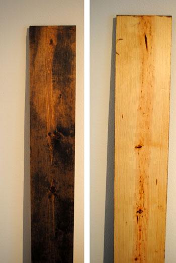 light versus dark stain growth ruler
