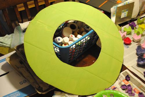 painted cardboard wreath