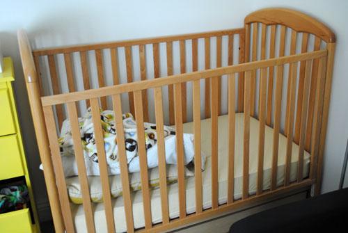 empty crib