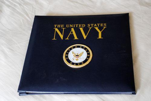 navy scrapbook