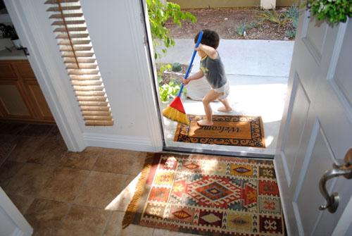 rug at entrance