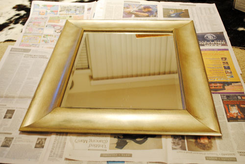 sanding gold mirror
