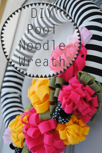 DIY Pool Noodle Wreath