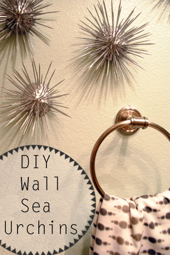 DIY wall sea urchins