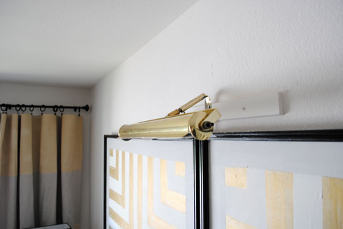 mounted art lamp