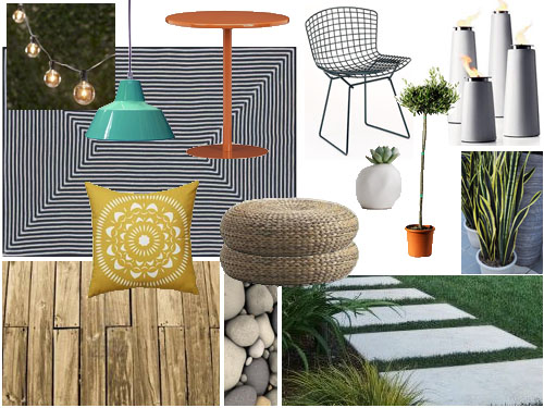 small enclosed patio mood board