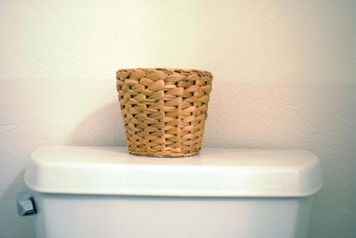 empty woven pot