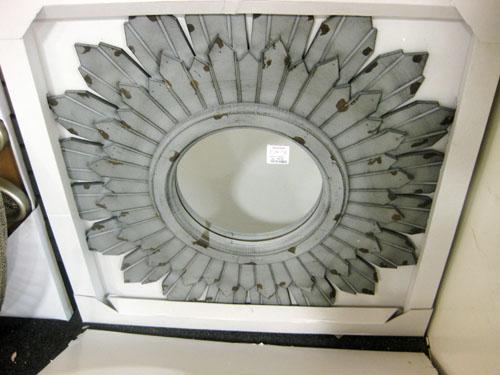 home goods grey aged sunburst mirror