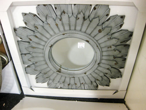 home goods grey aged sunburst mirror