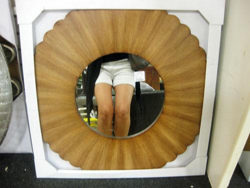 home goods natural wood sunburst mirror