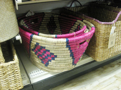 home goods tribal baskets