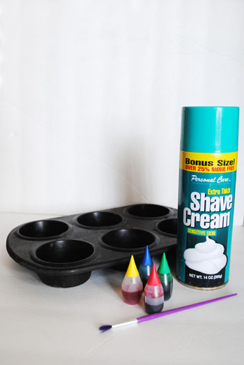 materials for DIY bath foam paints